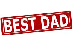 Best dad. Stamp with text best dad inside,  illustration Stock Photo