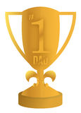 Best dad trophy illustration design Royalty Free Stock Photos