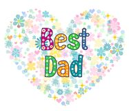 Best Dad - typography Hand lettering card . Royalty Free Stock Image