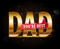 Best dad typography icon with thumbs up, happy fathers day Stock Image