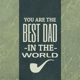 Best dad in the world background Stock Images