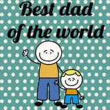 Best dad of the world Royalty Free Stock Photo