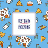 Best dairy product seamless pattern Royalty Free Stock Photo