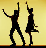 Best dancers in the whole music club Royalty Free Stock Images
