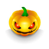 The best dark pumpkin on Halloween, with the eyes  Stock Image