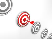Best darts target success choice concept Royalty Free Stock Images
