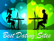 Best Dating Sites Shows Better Successful And Good Stock Images