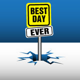 Best day ever plate Royalty Free Stock Image