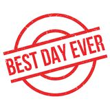 Best Day Ever rubber stamp Stock Photography