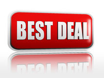 Best deal banner. Best deal 3d red banner with white text Royalty Free Stock Images