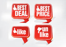 Best Deal Best Price and Like Tags Stock Images