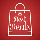 Best deal design. Royalty Free Stock Image
