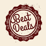 Best deal design. Best deal design, vector illustration eps 10 Royalty Free Stock Photography
