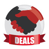 Best deal design. Royalty Free Stock Photo