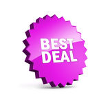 Best Deal icon with clipping path Stock Photos
