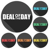 Best deal icons set with long shadow. Vector icon Royalty Free Stock Photo