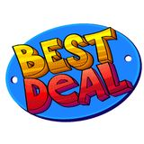 Best Deal pop art sign. Pop-art style vector illustration, Best Deal sign as a sticker or label Royalty Free Stock Photo