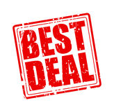 Best deal red stamp text. On white Vector Illustration