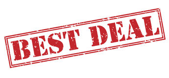 Best deal red stamp. On white background stock photography