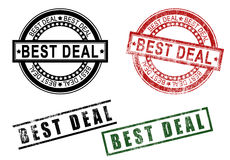 Best deal sign rubber stamp set Royalty Free Stock Images