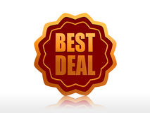 Best deal starlike label Stock Photo