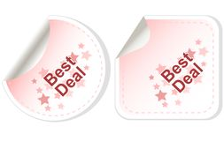 Best Deal stickers Button set card Vector Royalty Free Stock Photo