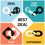 Best deal. team work. vector icons set. flat Royalty Free Stock Photos