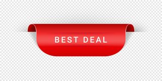Best Deal Vector Sticker, Tag, Banner, Label, Sign Or Ribbon Realistic Red Origami Style Vector Paper Ribbon For Web royalty free illustration