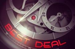 Best Deal on the Vintage Pocket Watch Mechanism. 3D. Stock Images