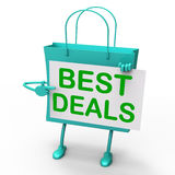 Best Deals Bag Represents Bargains and Discounts Royalty Free Stock Image