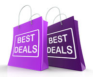 Best Deals Bags Represent Bargains and Discounts Stock Photo