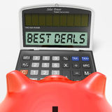 Best Deals Calculator Means Great Buy And Savings Royalty Free Stock Image