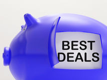 Best Deals Piggy Bank Shows Great Offers Royalty Free Stock Photos