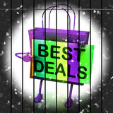 Best Deals Shopping Bag Represents Bargains and Discounts Royalty Free Stock Images