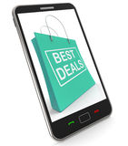 Best Deals On Shopping Bags Shows Bargains Sale And Save Royalty Free Stock Image