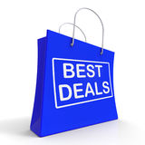 Best Deals On Shopping Bags Shows Bargains Sale Royalty Free Stock Image