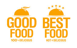 Best delicious food signs. Royalty Free Stock Photography