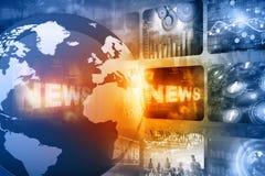 Best design of Global news. Digital illusration Stock Images