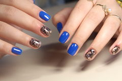 The best design of the nail manicure Royalty Free Stock Photos