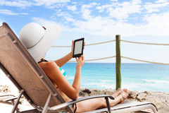 Best device to read under sun Royalty Free Stock Photos