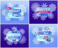 Best Dicounts Winter Big Sale Best Offer Posters Stock Images