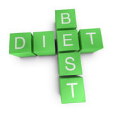 Best diet 3D crossword on white background Stock Images
