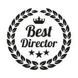 Best director laurel wreath on white background. vector illustration
