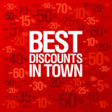Best discounts in town background. Stock Image