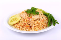 The Best Dishes, Thai Style Fried rice with pork in Thailand royalty free stock photography