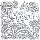The Best Doodle Sketch School School Style Vector. The Best Sketchy Notebook Doodles - Hand-Drawn Design Elements Illustration on Lined Sketchbook Paper Stock Photo