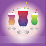 The best drinks. Three best drinks with the place for your slogan. Eps format is available Royalty Free Stock Photo