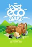 Best eco tours, best vacation deals design concept Royalty Free Stock Photos