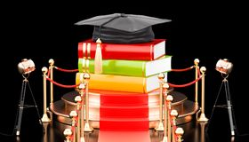 Best education concept. 3D rendering. Isolated on black background Royalty Free Stock Photo