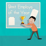 Best Employe of the Year trophy. Stock Photo